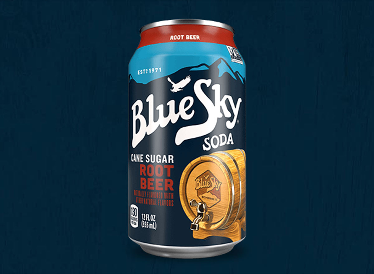 blue sky root beer can