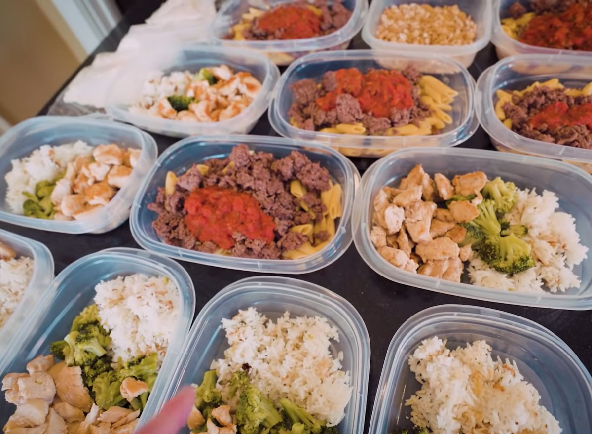 meal prep containers on a table