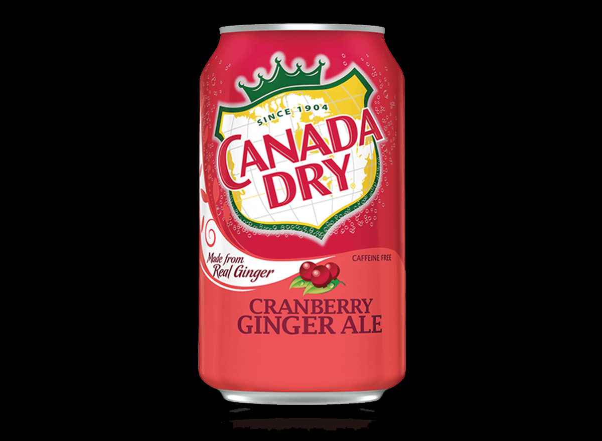 canada dry cranberry ginger ale can