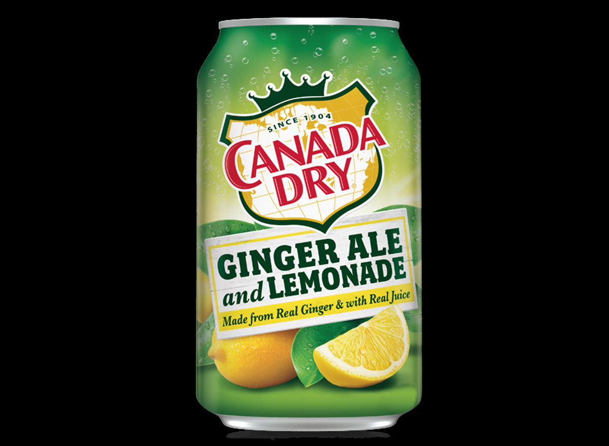 canada dry ginger ale lemonade can