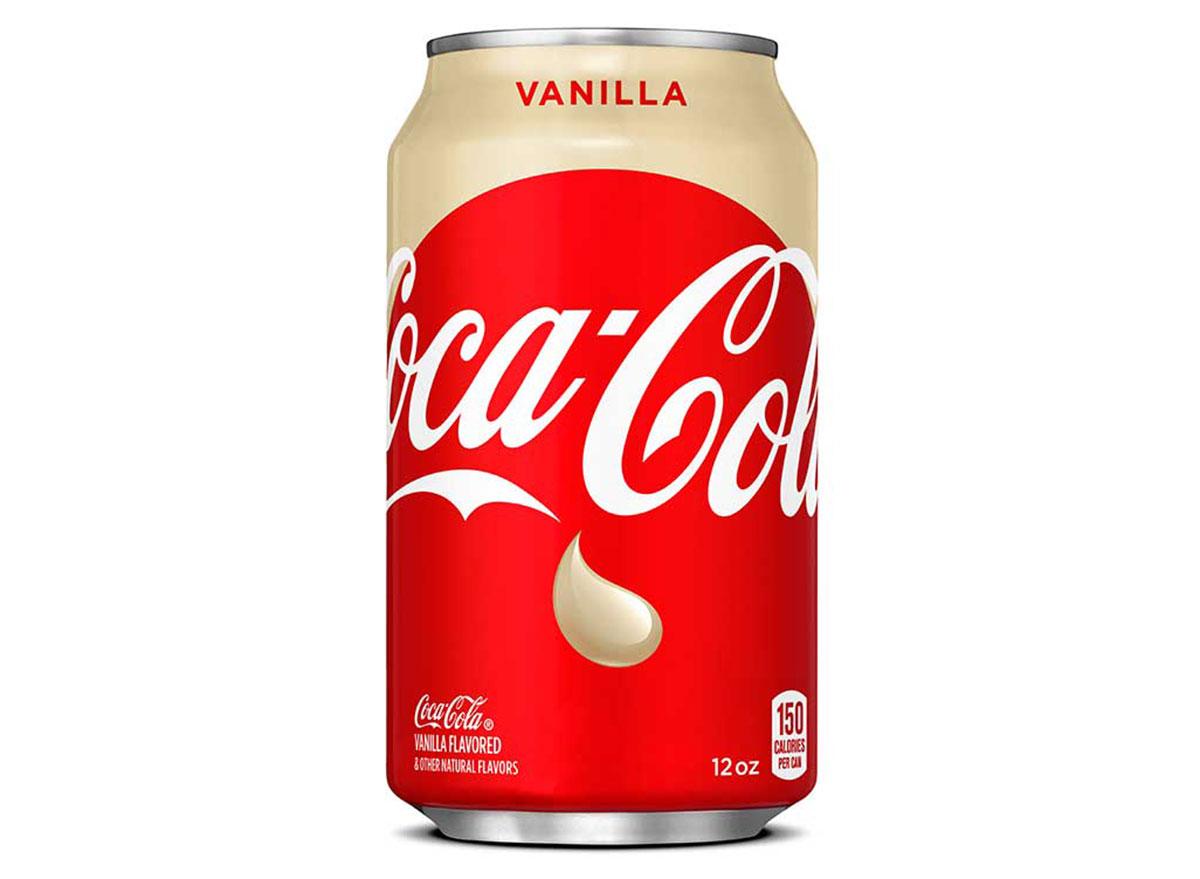 coca cola vanilla can