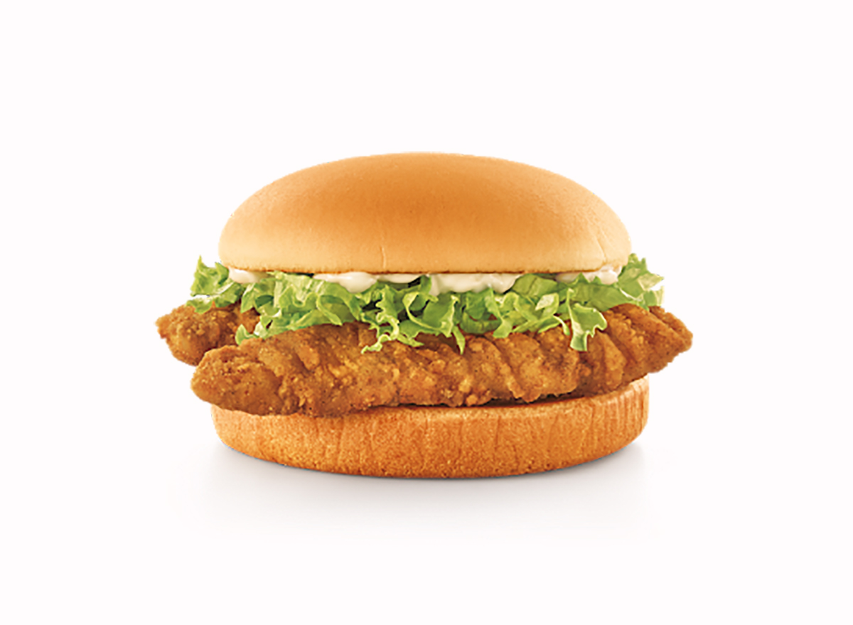 crispy tender sandwich from sonic