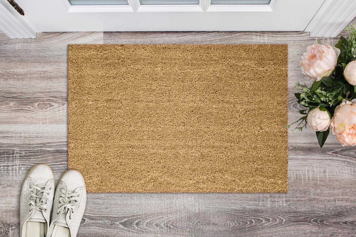 doormat before the door in the hall