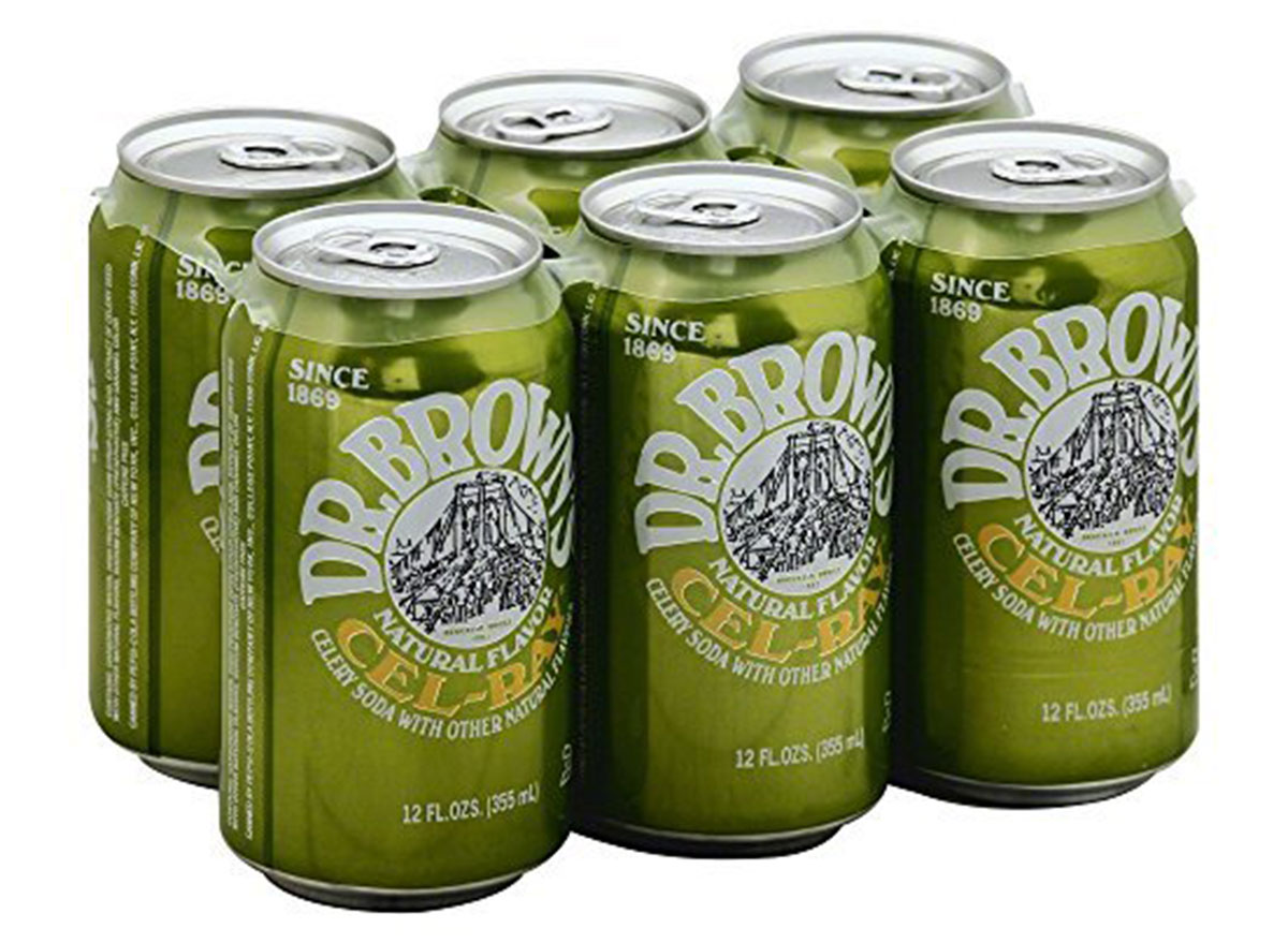 dr browns cel ray soda 6-pack cans