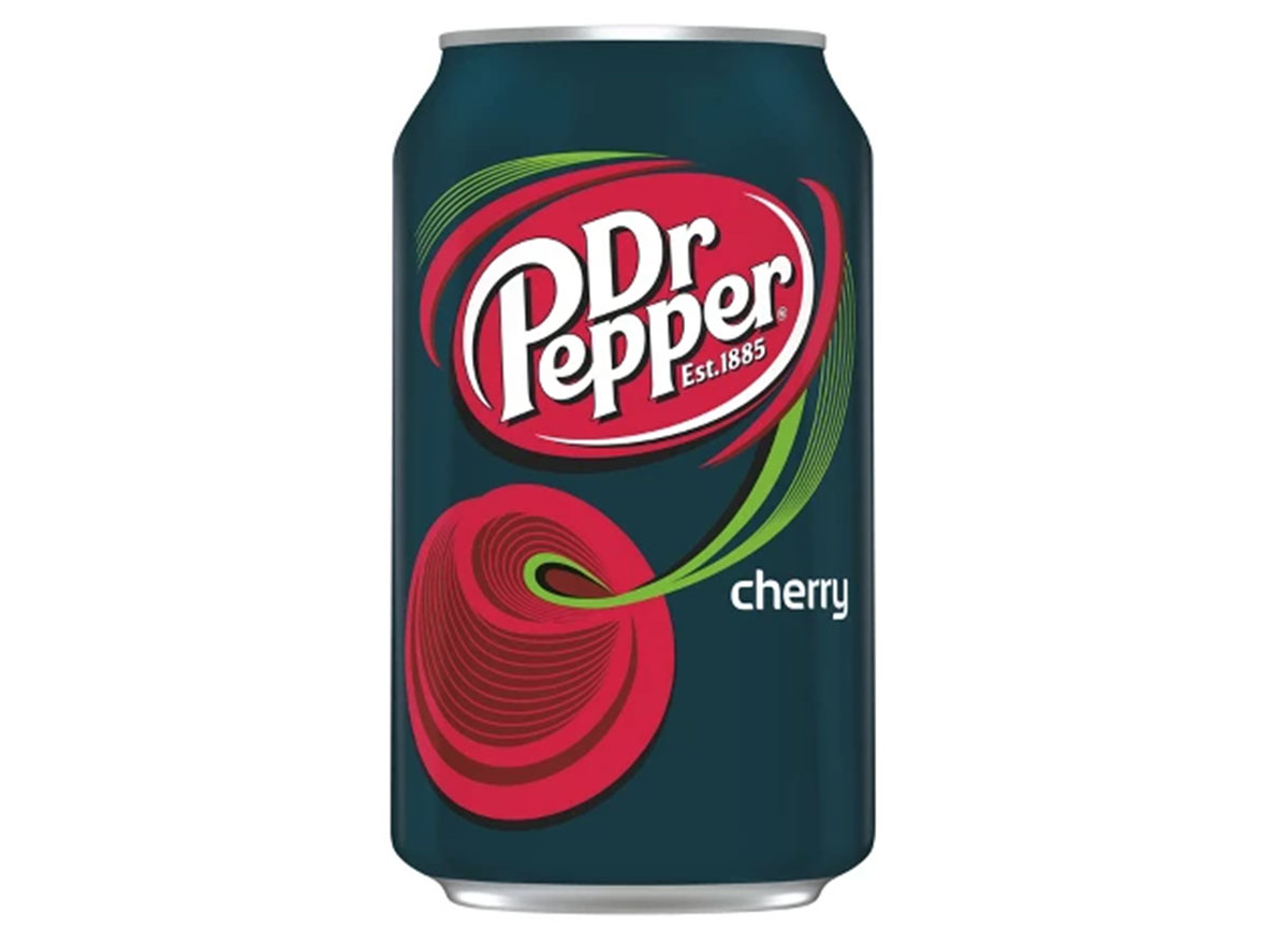 dr pepper cherry soda can