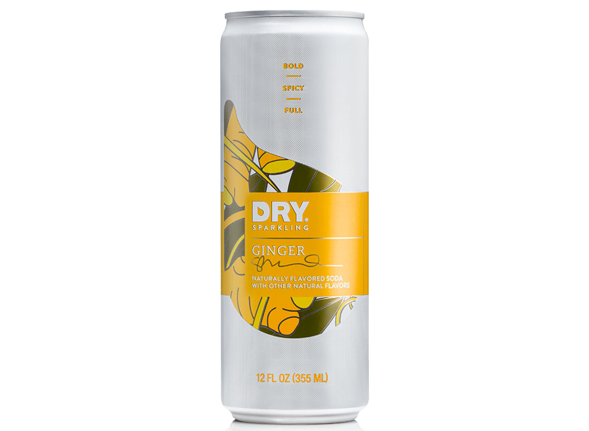 dry sparkling ginger soda can