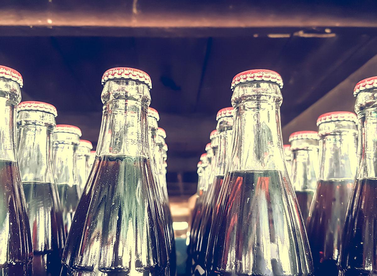 glass coke bottle close ups