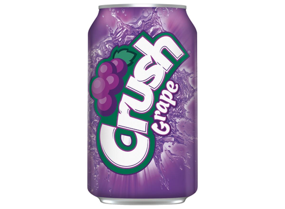 grape crush soda can
