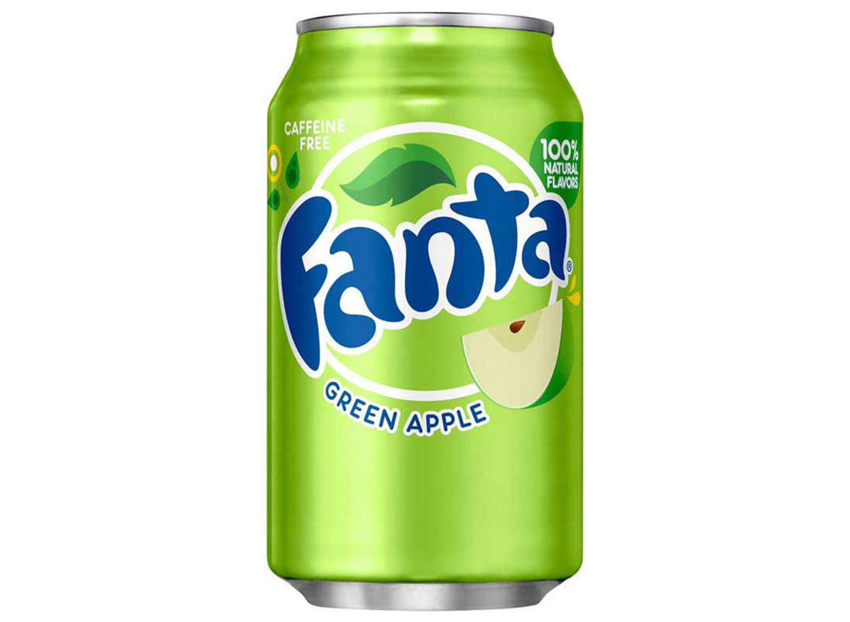 green apple fanta soda can