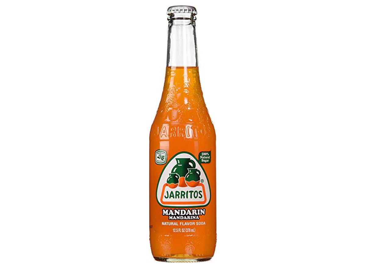 jarritos mandarin soda bottle