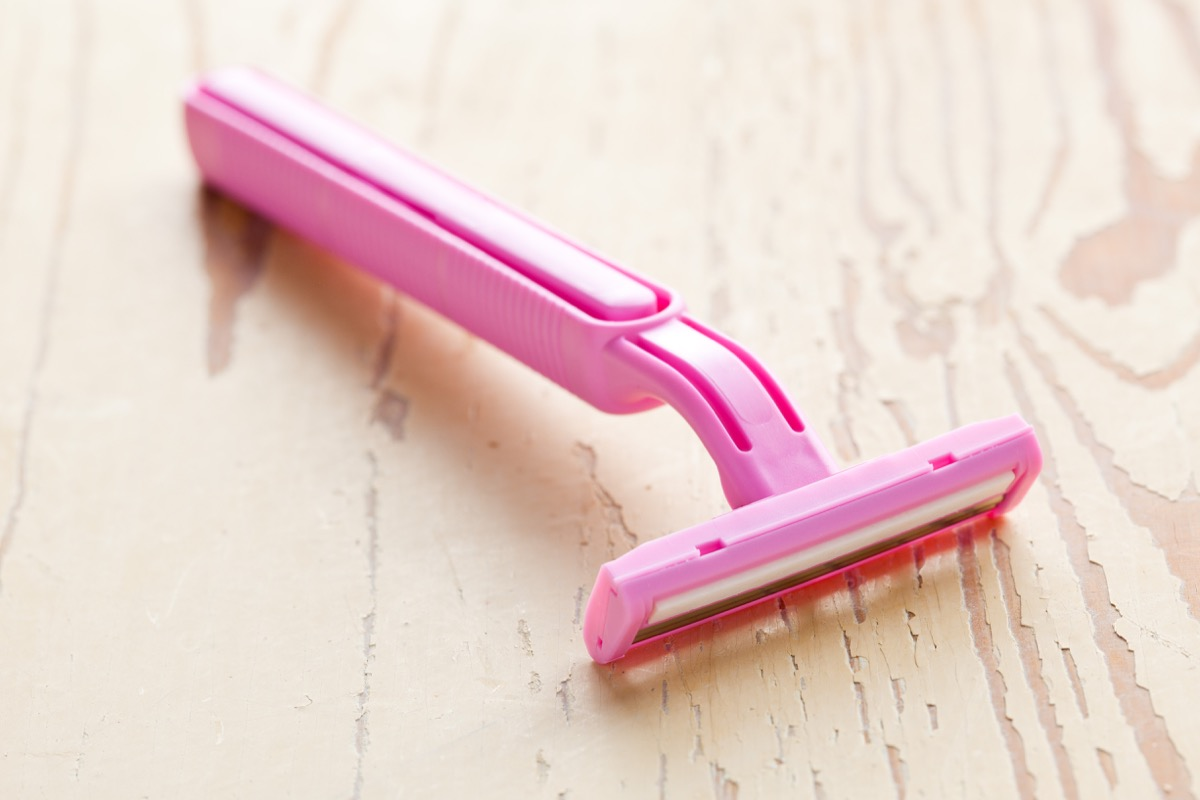pink lady shaver on table