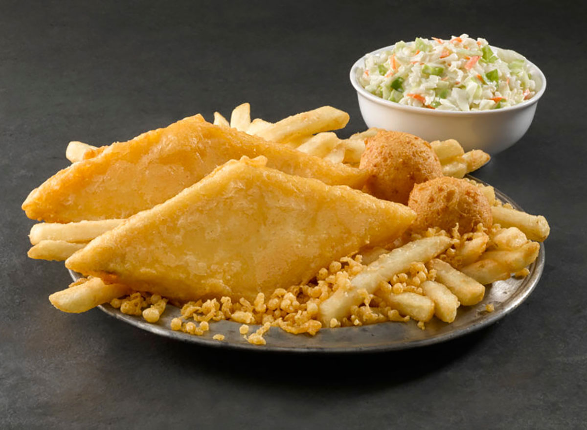 long john silvers fish combo with coleslaw