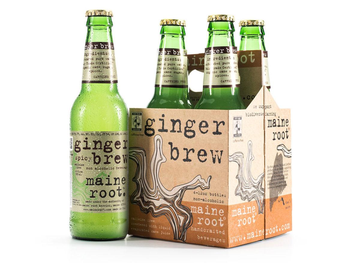 maine root ginger brew 4-pack bottles