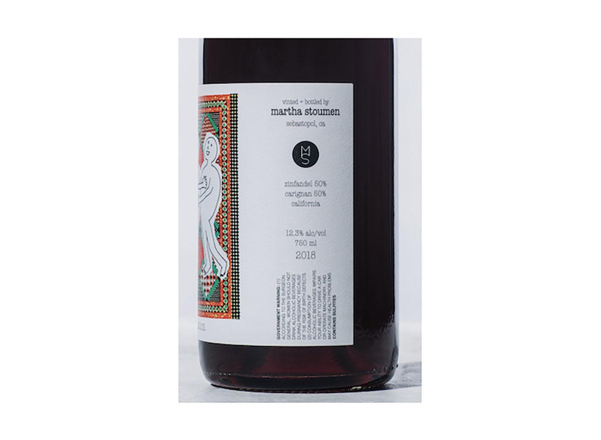 martha stoumen wines natural red wine bottle