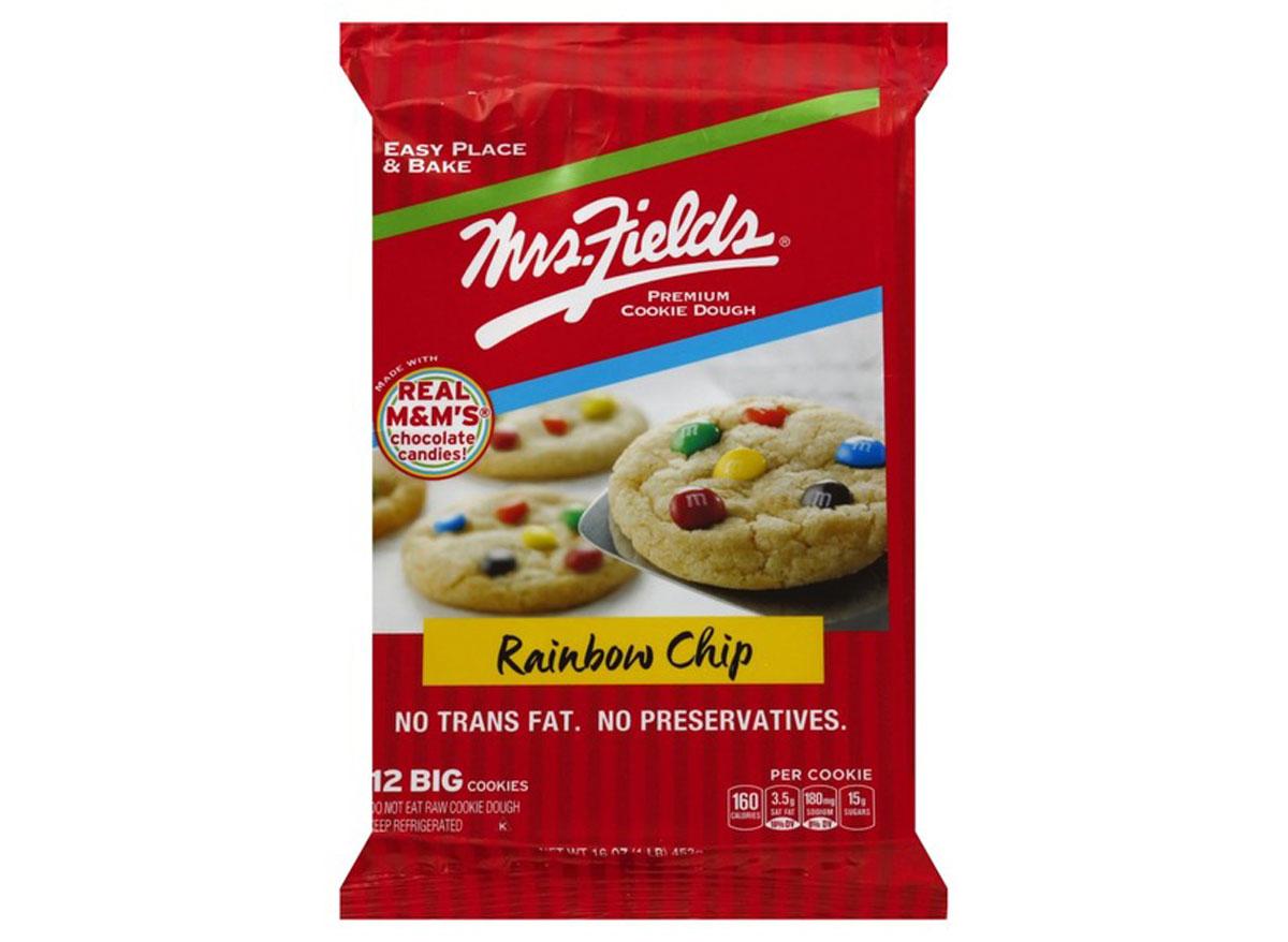 mrs fields rainbow cookie dough