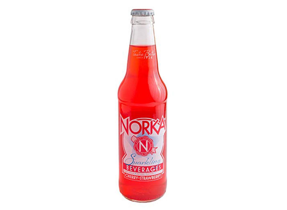 norka cherry strawberry soda can