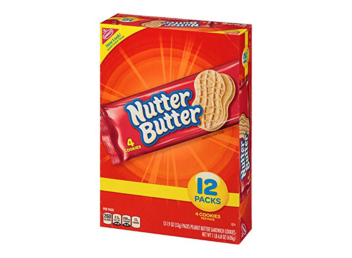 box of nutter butter cookie snack packs
