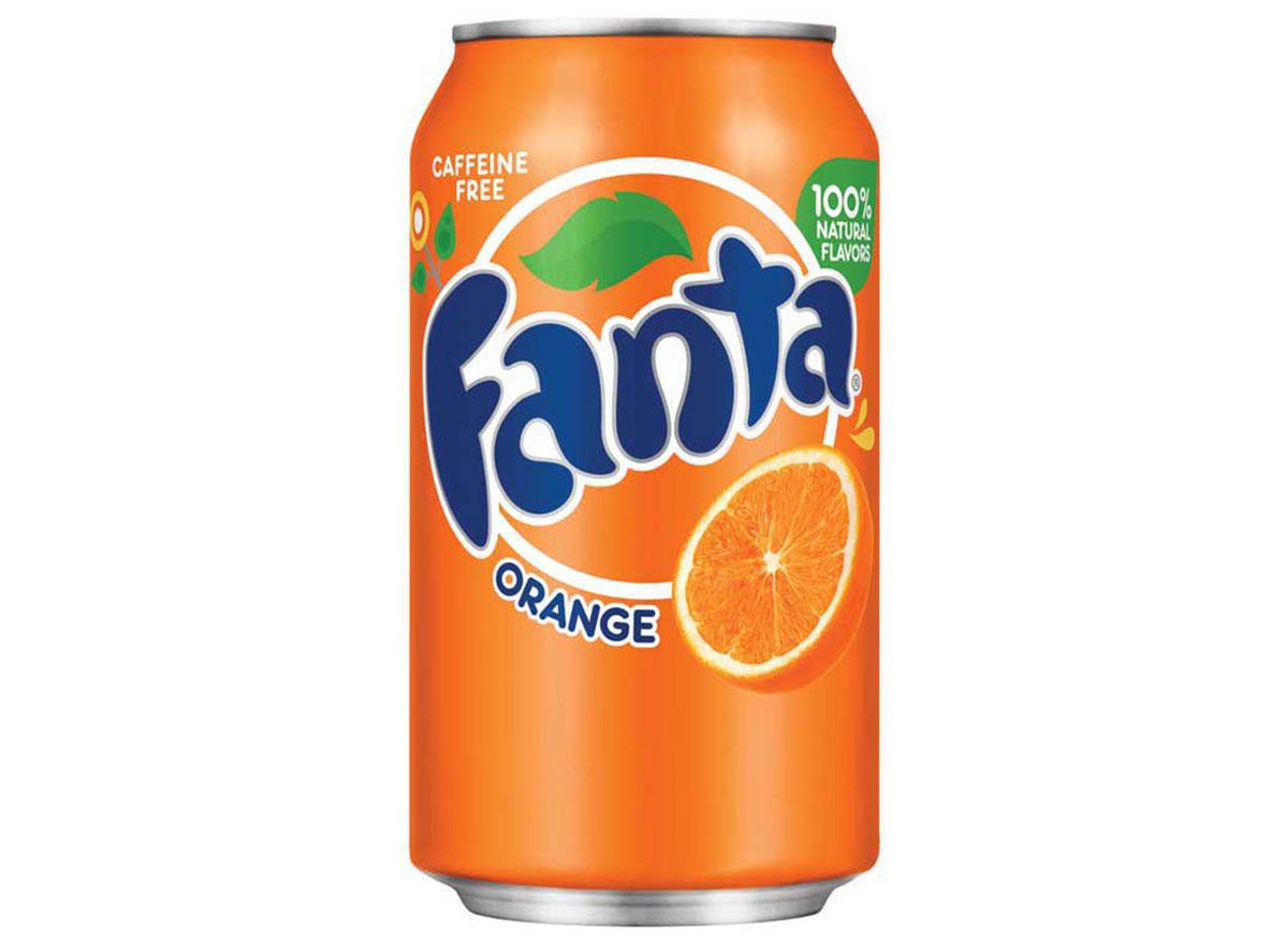 orange fanta soda can