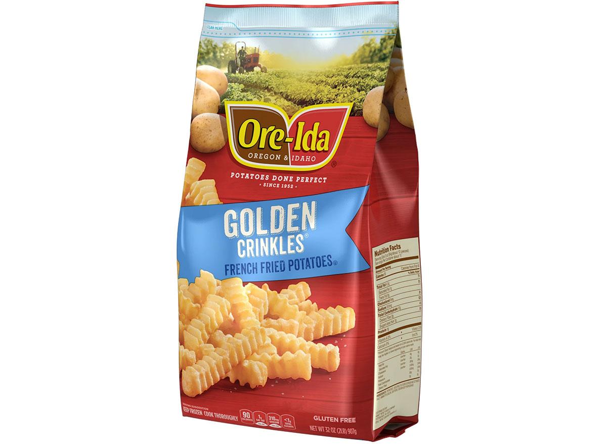 bag of ore ida golden crinkles frozen potatoes