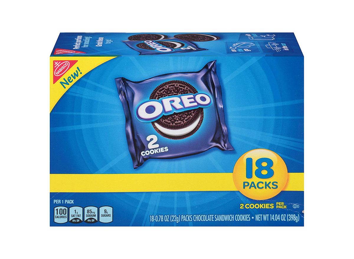 box of oreo two packs