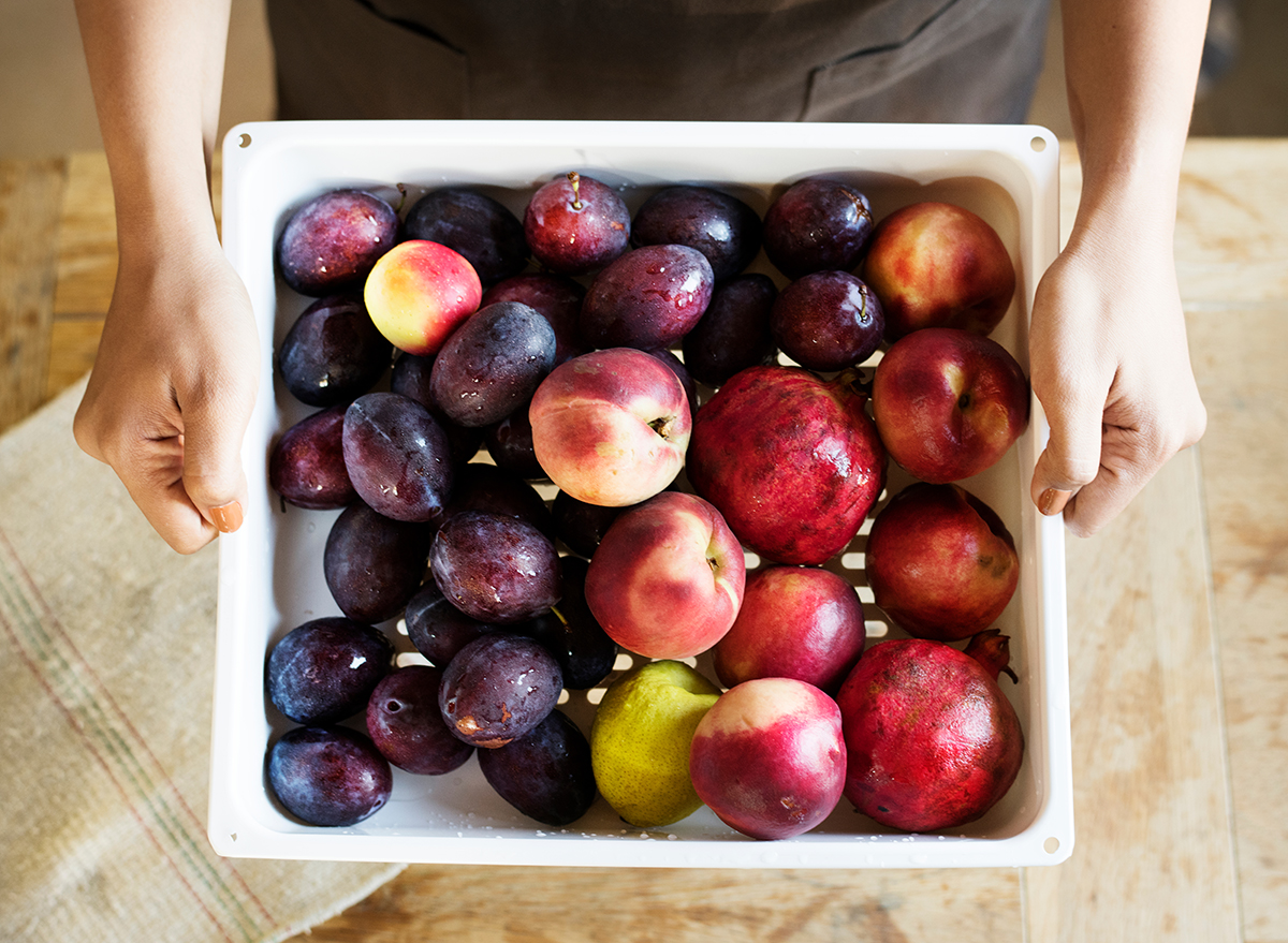 peaches and plums have ethylene