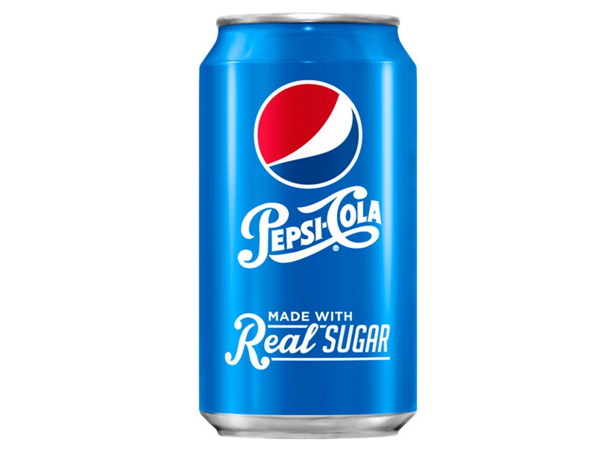 pepsi real sugar soda can