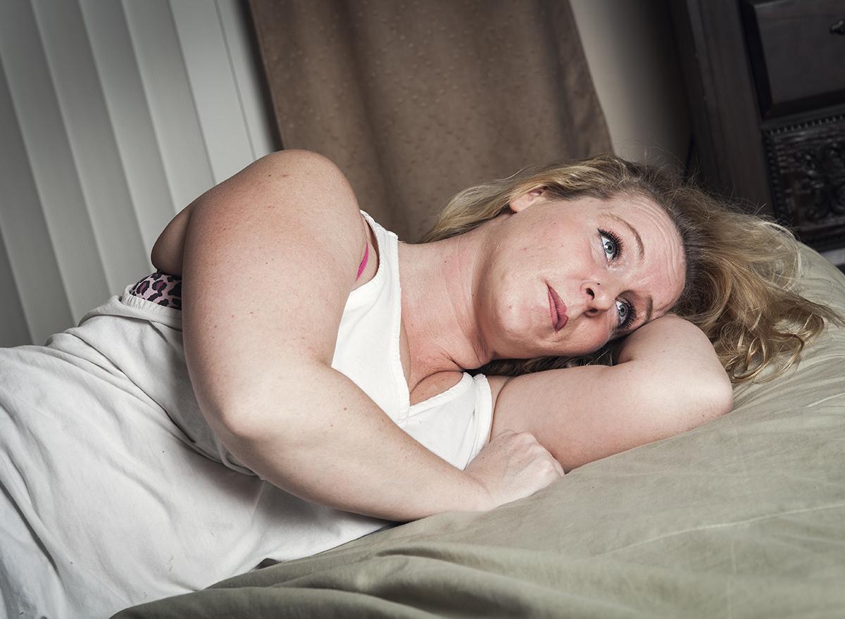 a woman who cannot sleep