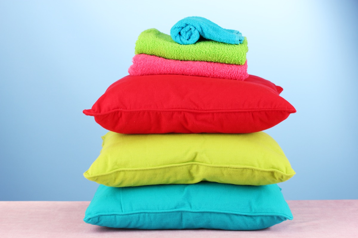 pillows and towels