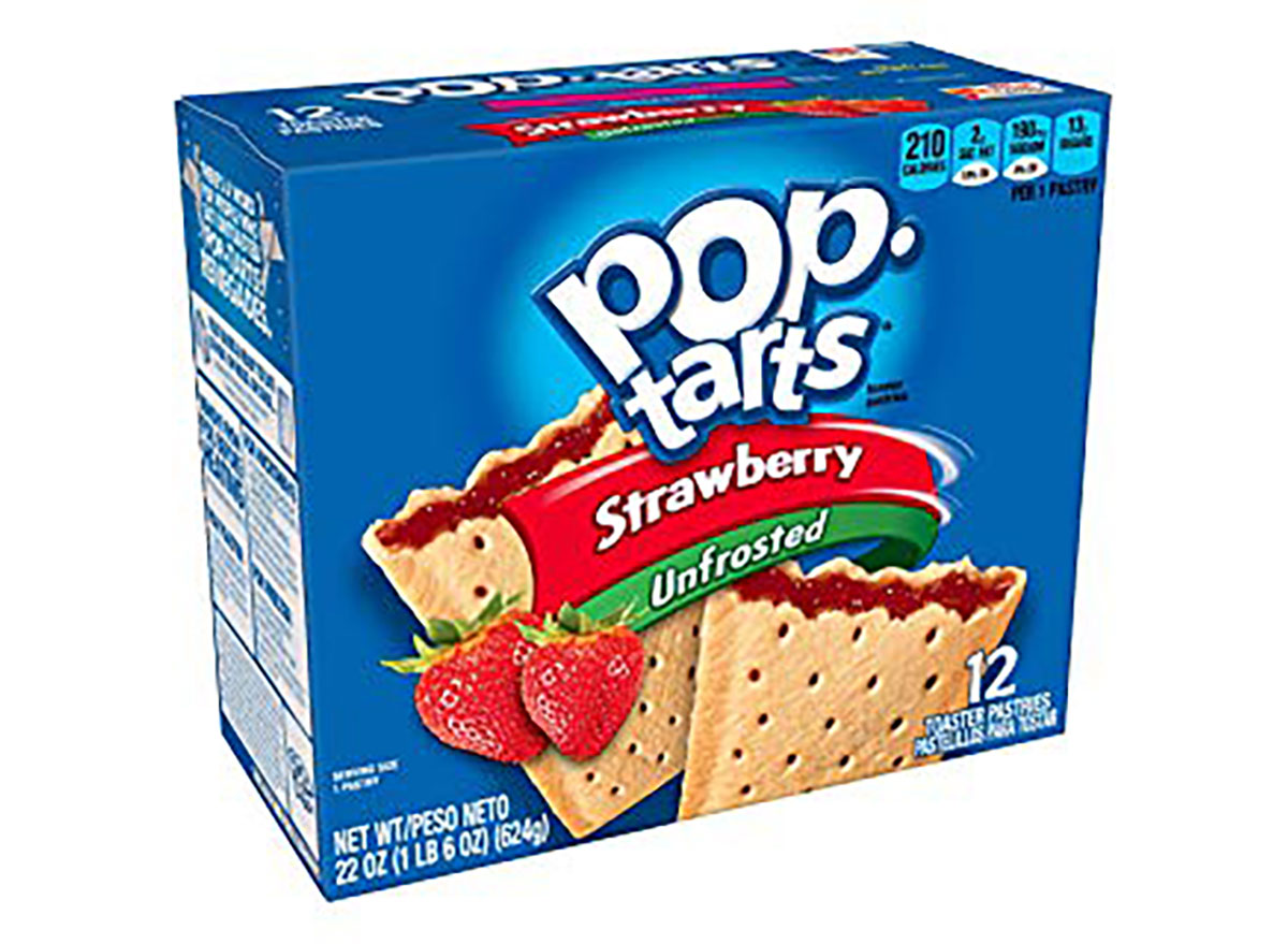 box of unfrosted strawberry poptarts