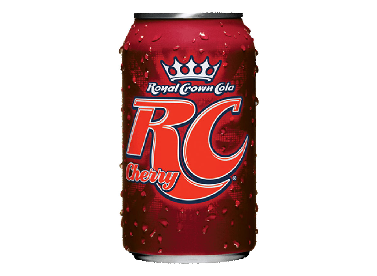 rc cherry cola soda can