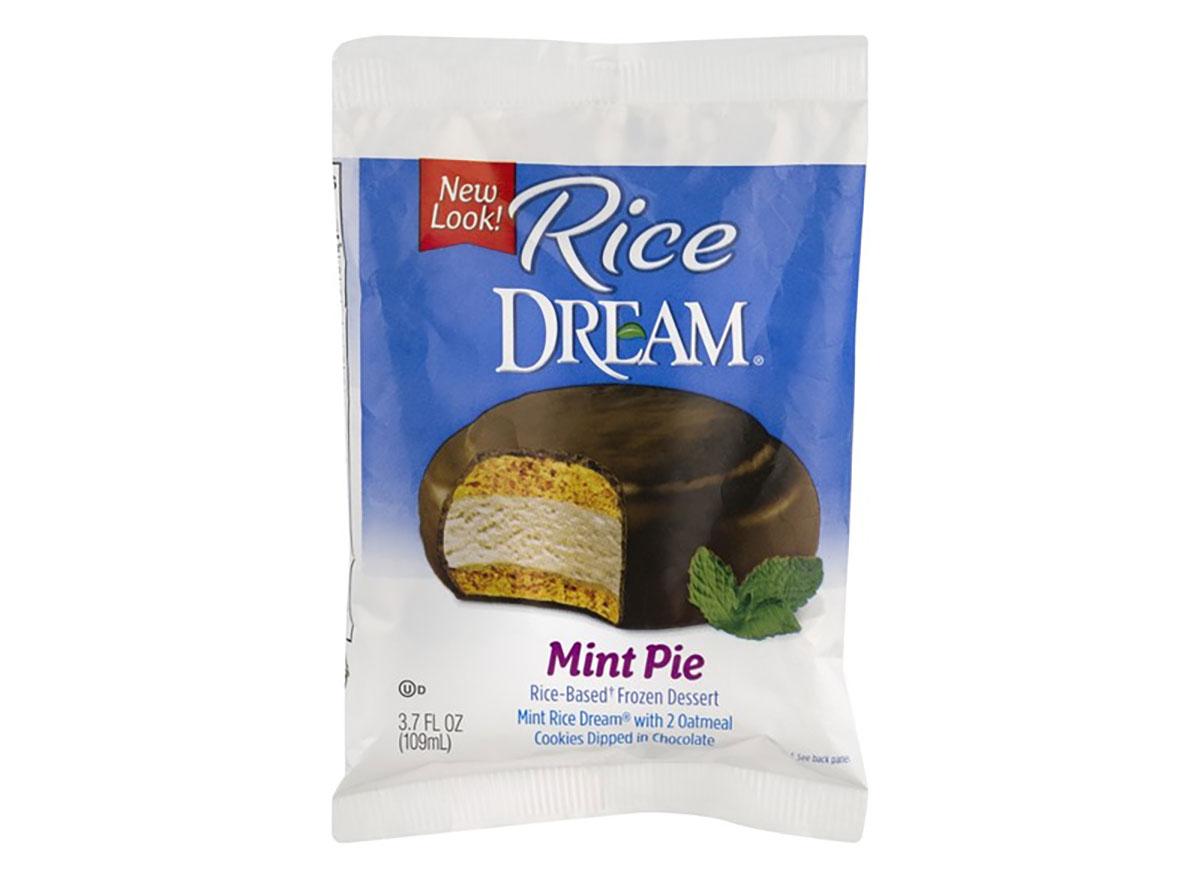 rice cream mint pie frozen dessert package