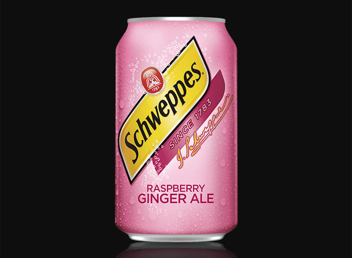 schweppes raspberry ginger ale can