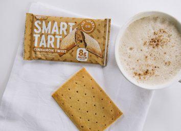 smart tart cinnamon twist bar on napkin