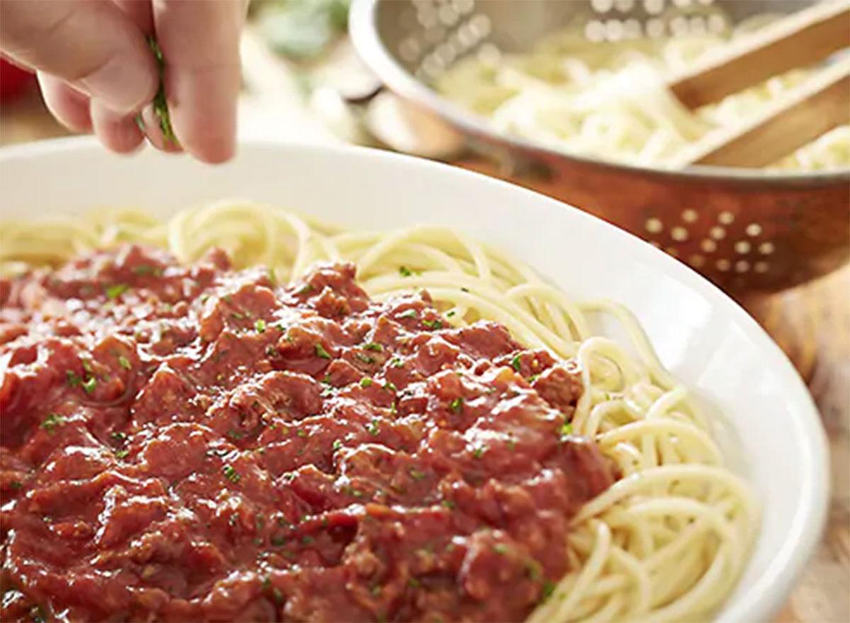 olive garden spaghetti meat sauce
