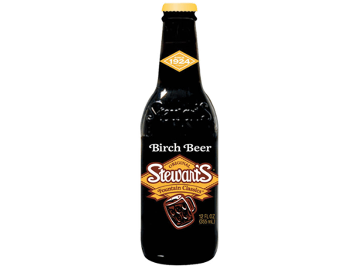 stewarts birch root beer soda bottle