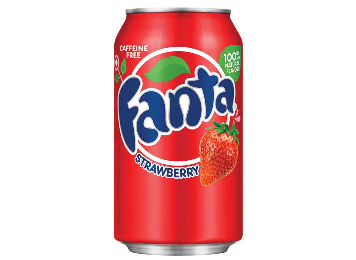 strawberry fanta soda can