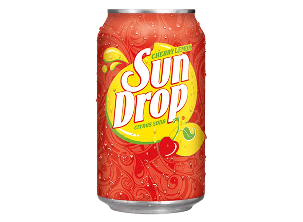 sun drop cherry lemon soda can
