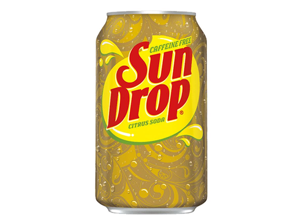 sun drop citrus caffeine free soda can