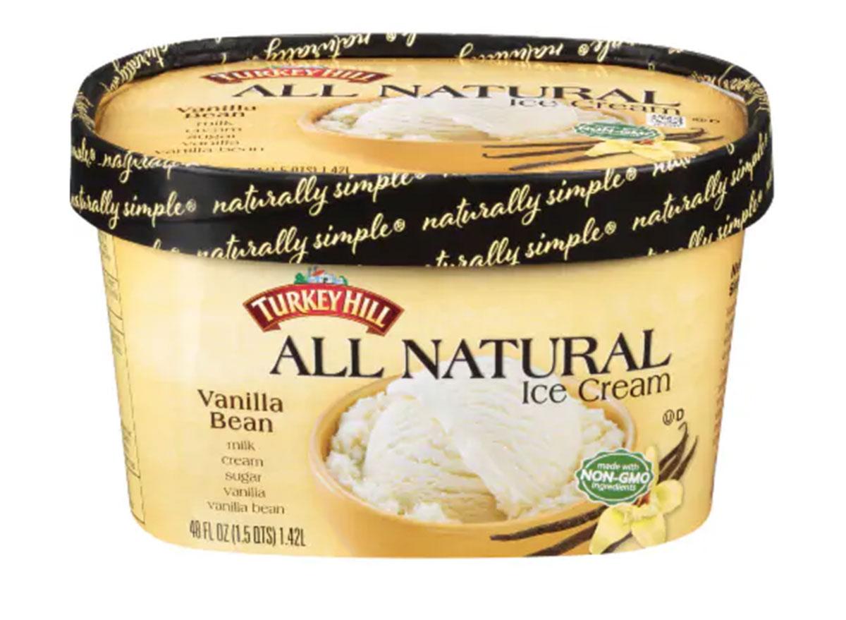 turkey hill all natural vanilla bean ice cream tub