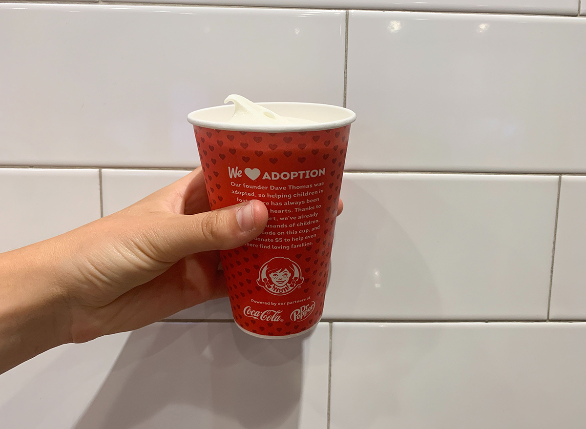 vanilla frosty from wendy's