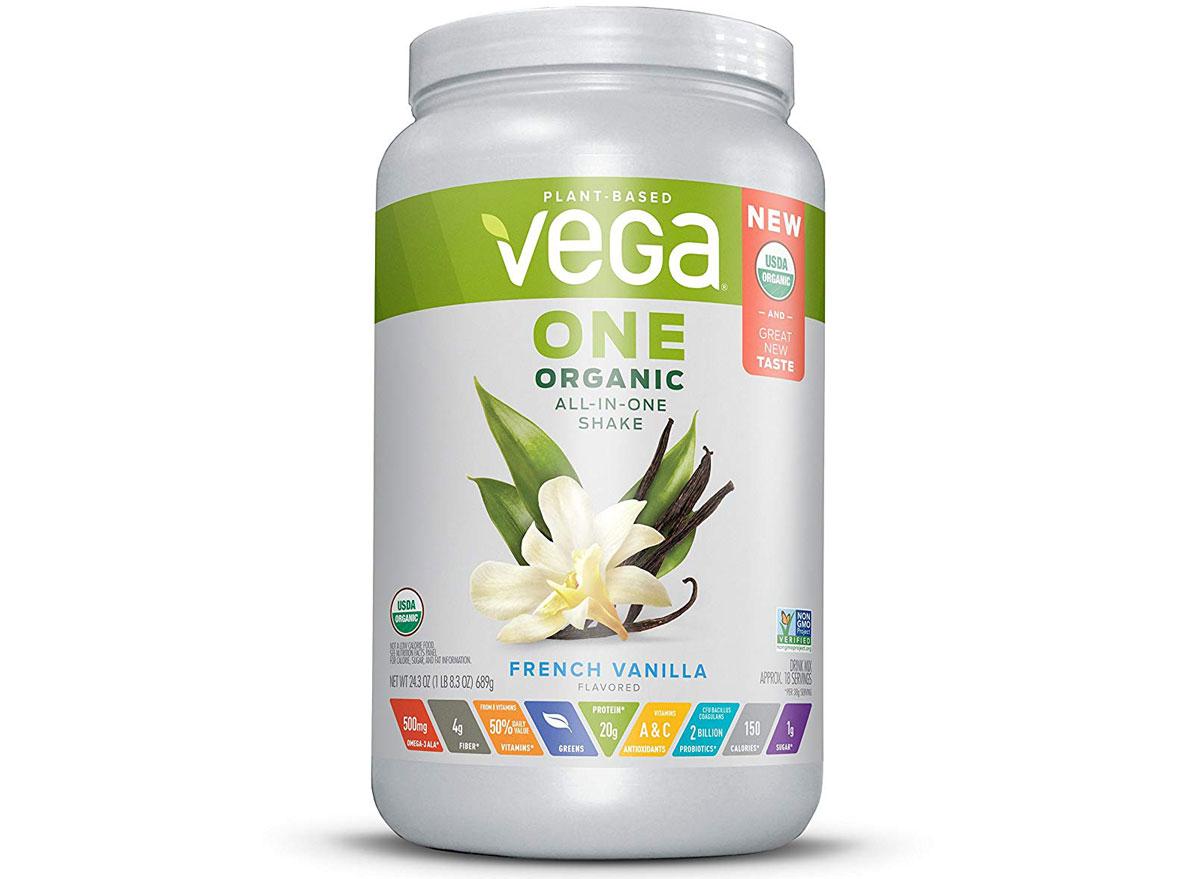 vegan one organic all in one shake french vanilla