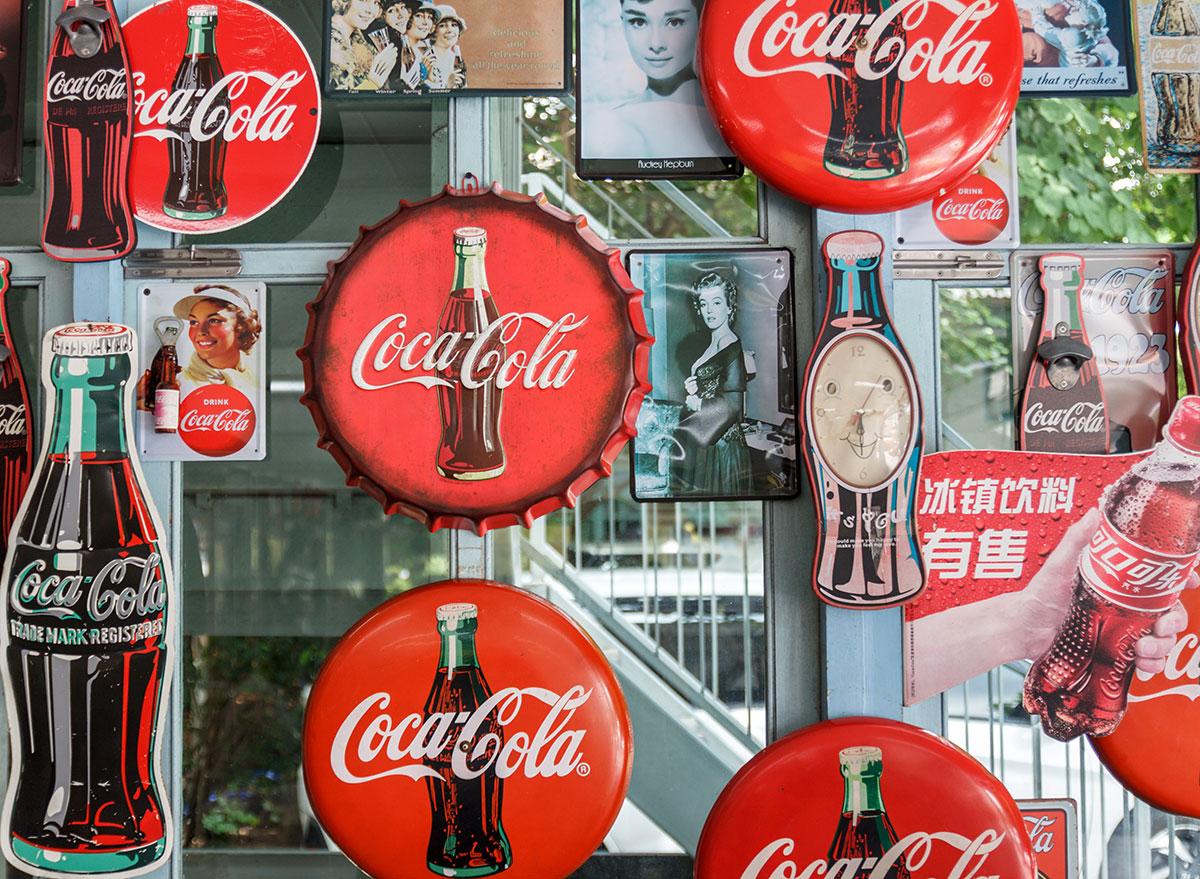 vintage coke logo wall products