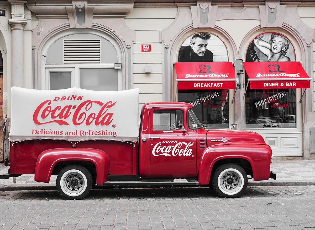 vintage coke truck