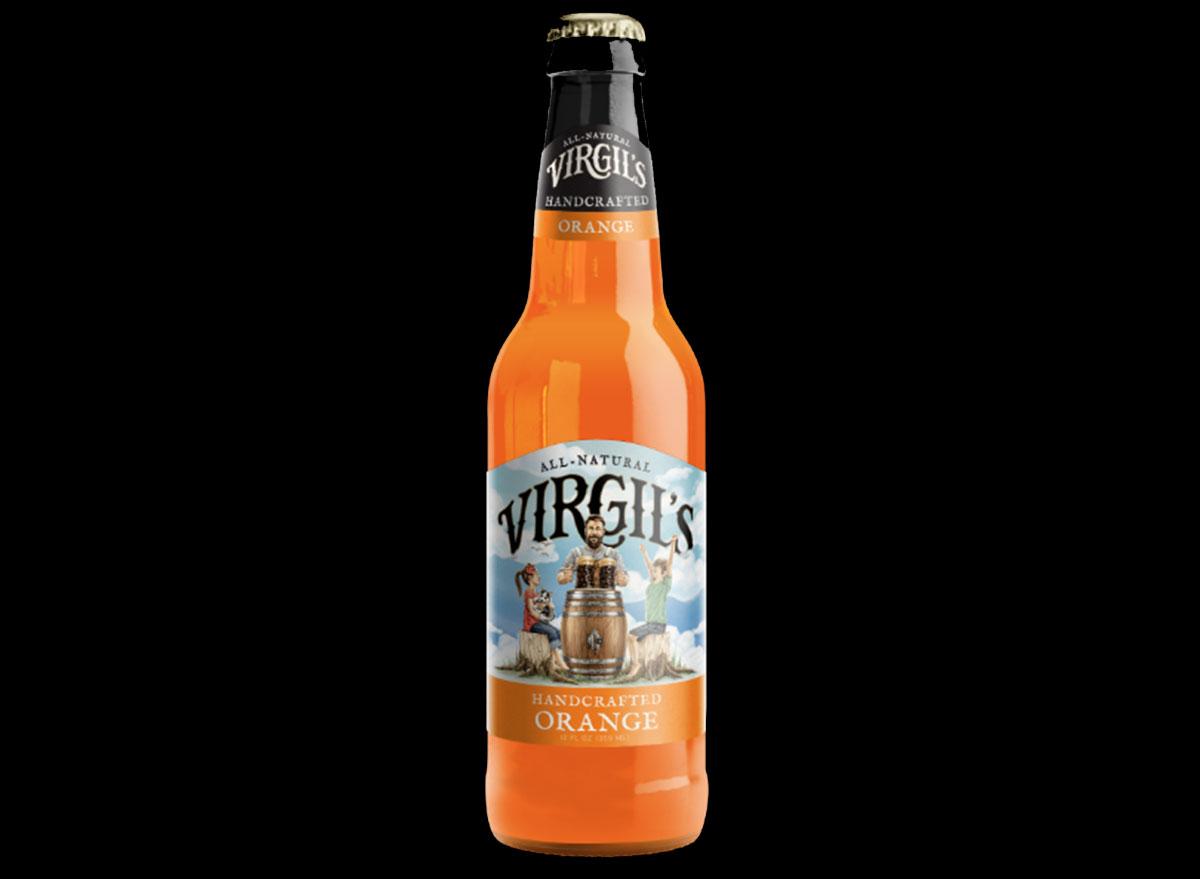 virgils handcrafted orange soda bottle