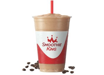 20 ounce coffee flavored keto champ smoothie from smoothie king