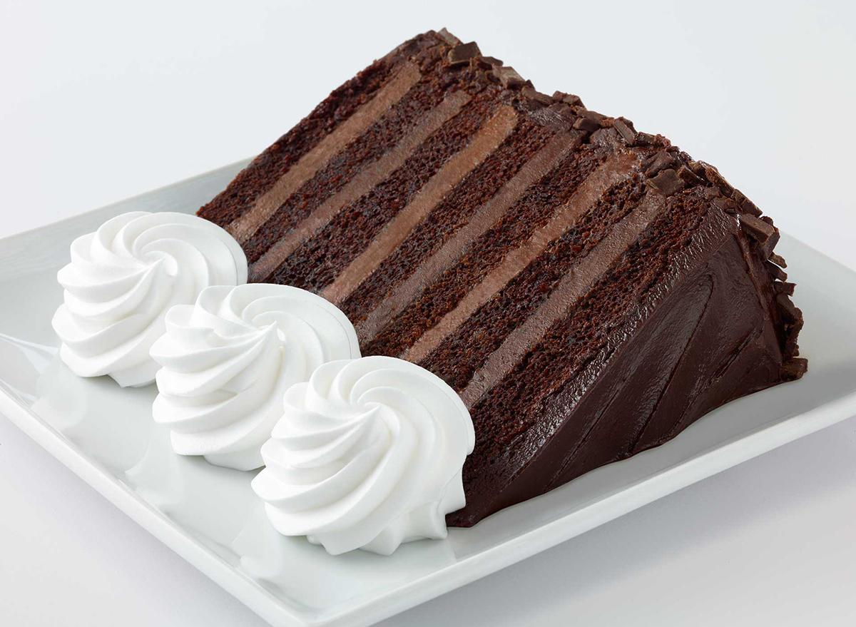 chocolate tower truffle cake from cheesecake factory