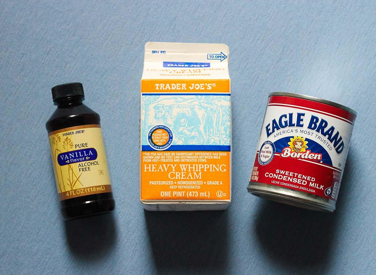 The three ingredients needed to make homemade ice cream