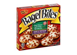 box of bagel bites