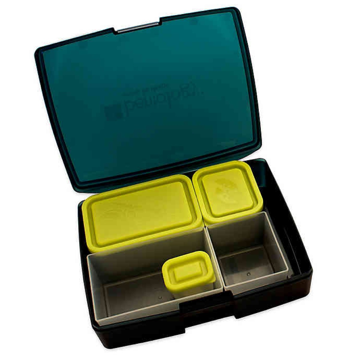 bentology bento box with open lid, cheap meal prep containers