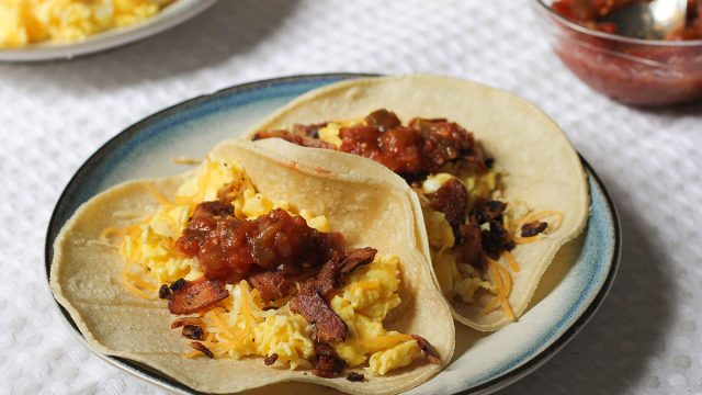 breakfast tacos recipe on a plate
